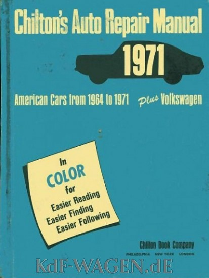 VW - Chilton´s auto repair manual 1971. American cars from 1954 to 1971 plus Volkswagen - 0-8019-5581-5 - [85]-1