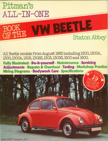 VW - Pitman´s all-in-one book of the VW beetle - Staton Abbey - 0273 00946 X - [492]-1