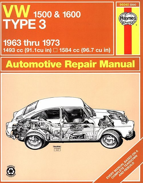 VW - VW 1500 & 1600 Type 3 Owners Workshop Manual, 1963 to 1973 - J.H. Haynes - 0-900550-84-8 - [790]-1