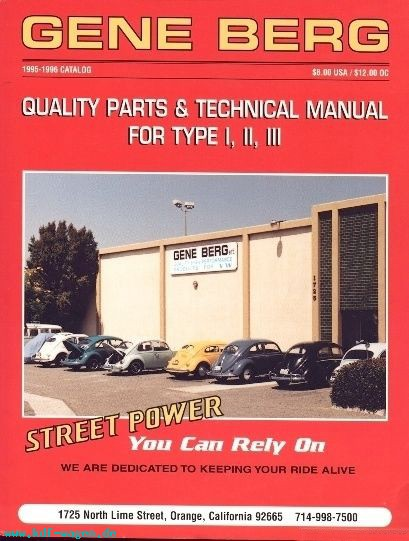 VW - Quality parts and technical manual for type I, II, III. Street Power you can rely on - Berg, Gene - [1021]-1