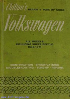 VW - Chilton's repair and tune up guide, Volkswagen 1949 to 1971 - [1124]-1
