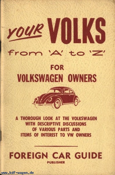 VW - Your VOLKS from 'A' to 'Z' For VOLKSWAGEN OWNERS - World Car Guide - [1175]-1