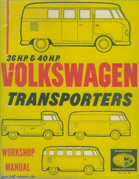 VW - 36 hp and 40 hp VW Tranporters Workshop Manual - [1207]-1