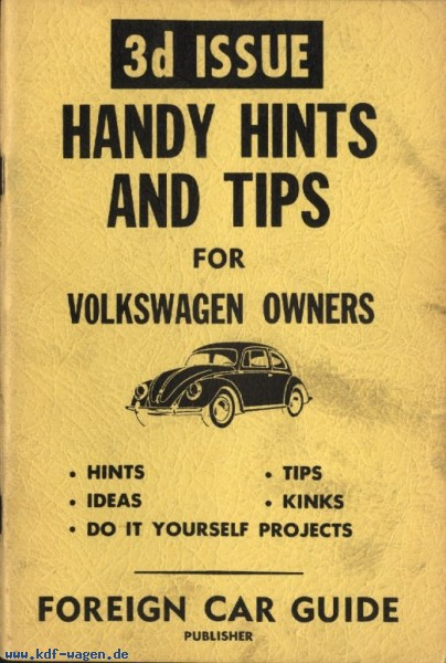 VW - Handy Hints and Tips for Volkswagen owners. Issue 3 - Foreign Car Guide - [1241]-1