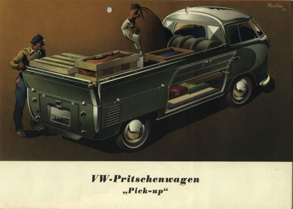 VW - 1953 - VW-Pritschenwagen - Pick-Up -  2-53 TP 221-72 - [1424]-1