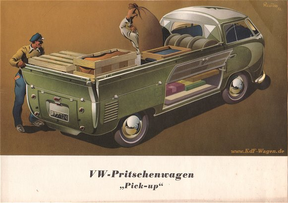 VW - 1954 - VW-Pritschenwagen Pick-Up - w 1/ 5/ 1 - [1462]-1