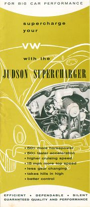 VW - 1958 - Supercharge your VW with the Judson Supercharger - [1623]-1