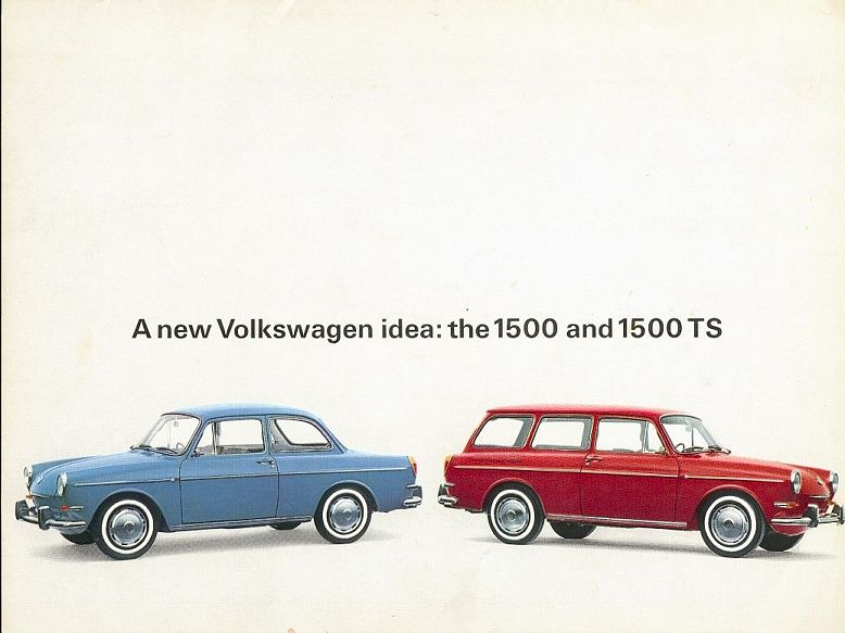 VW - 1965 - A new Volkswagen Idea: the 1500 and 1500 TS - F-1500-9/64-60-15F - [1844]-1