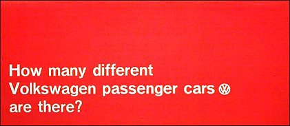 VW - 1966 - How many different Volkswagen passenger cars are there? - 645 901 200 8/66 - [1874]-1