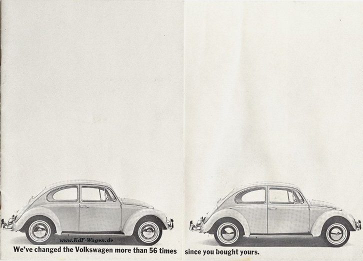 VW - 1967 - We've changed the Volkswagen more than 56 times since you bought yours. - 36-00-75011 - [1919]-1