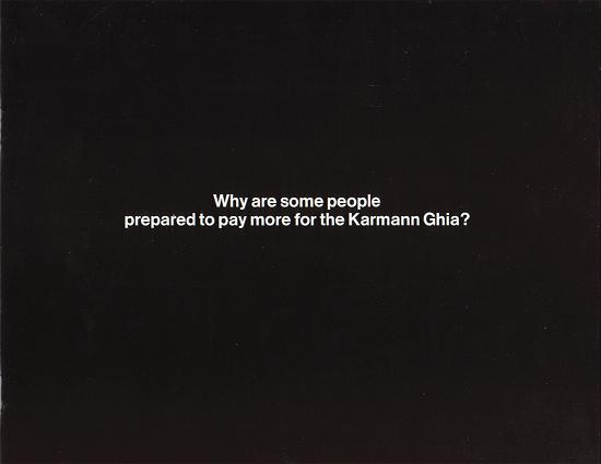 VW - 1968 - Why are some people prepared to pay more for the Karmann Ghia? - 151.410.29 11/68 - [1944]-1