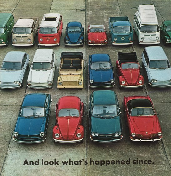 VW - 1969 - It all began with the Beetle. And look what´s happened since. - 152.109.29  8/69 - [1968]-1
