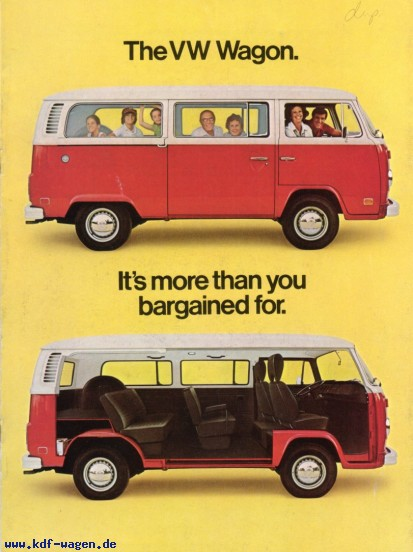 VW - 1977 - The VW Wagon. It's more than you bargained for. - 33-22-76020 - [2394]-1