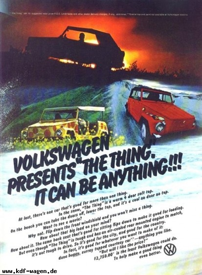 VW - 1973 - Volkswagen presents the Thing. - 33-18-36020 - [2443]-1
