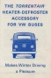 VW - 1969 - The Torrentair heater defroster accessory for VW Buses - [2570]