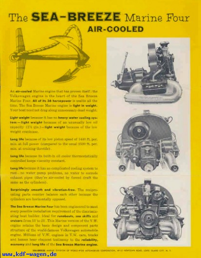 VW - 1958 - The Sea Breeze Marine Four Air Cooled - [2572]-1