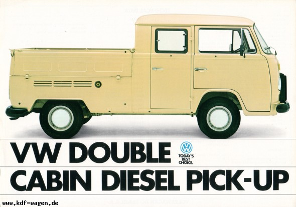 kdf wagen brochures 1982 vw double cabin diesel pick up. Black Bedroom Furniture Sets. Home Design Ideas