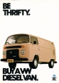 VW - 1982 - Be Thrifty. Bay a VW Diesel Van. - 45486 07/82 - [2693]