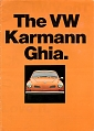 VW - 1971 - The VW Karmann Ghia. - 151.414.25  8/71 - [5046]