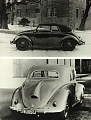 VW - 1938 - VW misc, Beetle Convertible - Doppelmotiv KdF-Wagen Cabrio und Stoll Coupe - [5283]