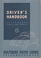 VW - 1946 - Driver´s Handbook Volkswagen Type 11 and Type 51 - [5524]