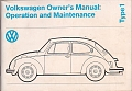 VW - 1974 - Volkswagen Owner´s Manual - 3.02.561.036.23  1.74 - [5924]