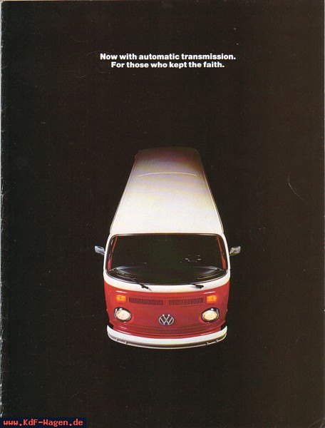 VW - 1973 - Now with automatic transmisson. For those who kept the faith. - 33-22-36010-B - [6161]-1