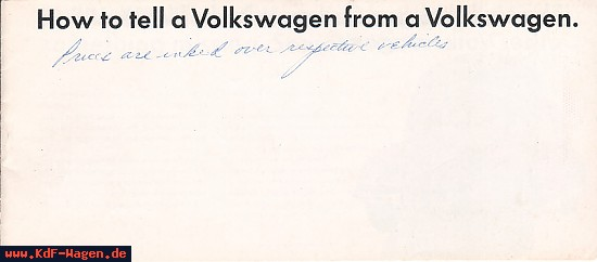 VW - 1967 - How to tell a Volkswagen from a Volkswagen. - 33-00-76010 - [6475]-1