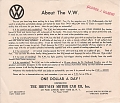 VW - 1950 - About the V.W. - [6537]