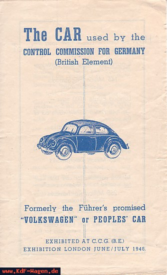 VW - 1946 - The car used by the Control Comission for Germany (British Element) - [6541]-1