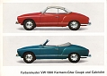 VW - 1965 - Farbenmuster VW 1300 Karmann Ghia Coupé und Cabriolet - 153.214.00  8/65 - Repro - [6654]