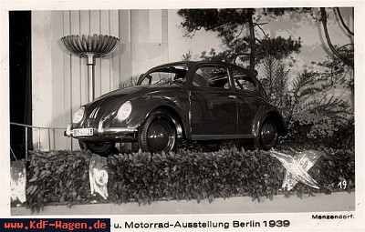 VW - 1939 - Internationale Automobil- u, Motorrad-Austellung Berlin 1939 - [6739]-1