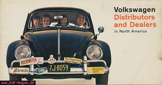 VW - 1966 - Volkswagen Distributor and Dealers in North America - 2-10-66-33-00-56020 - [7141]-1
