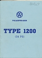 VW - 1972 - Type 1200 (34PS) - [7156]