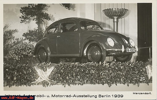 VW - 1939 - Internationale Automobil- u, Motorrad-Austellung Berlin 1939 - [7286]-1