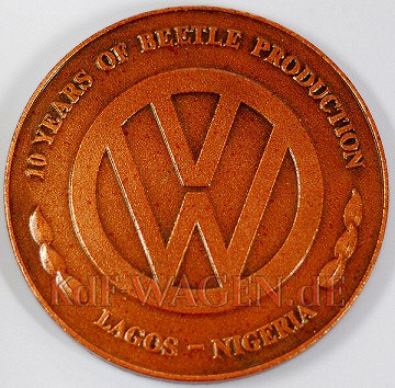 VW - 1985 - 10 years of Beetle production. Lagos Nigeria - [7956]-2