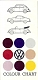 VW brochures - Color Chart,1964,CC - 1299 - 9/64 - 100 E