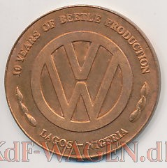 VW - 1985 - 10 years of Beetle production. Lagos Nigeria - [8391]-2
