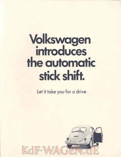 VW - 1968 - Volkswagen introduces the automatic stick shift. - [8533]-1