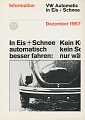 VW - 1967 - VW Automatic in Eis + Schnee - [8653]