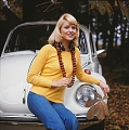 VW - 1973 - Beetle, Super Beetle (late) - weisse Limousine im Wald. Dia. Farbe  - [9215]