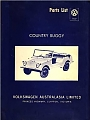 VW - 1970 - Country Buggy Parts List - [9354]