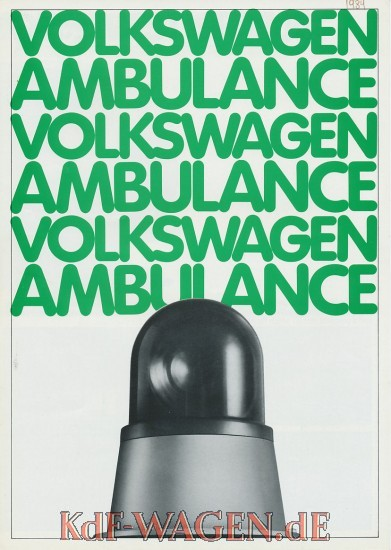 VW - 1986 - Volkswagen Ambulance - 45247-8/86 - [9382]-1