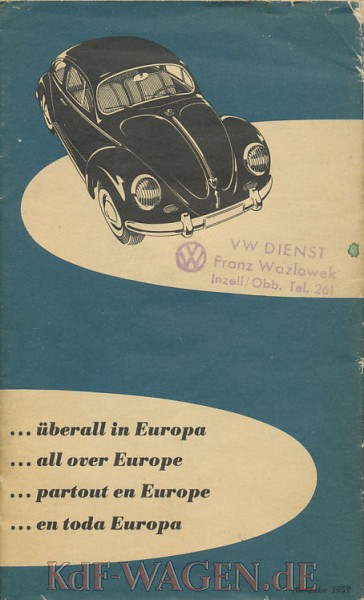 VW - 1959 - ... überall in Europa - 156 639 - [9689]-1
