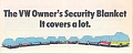 VW - 1974 - The VW owner's security blanket. It covers a lot. - [9724]