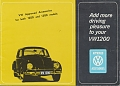 VW - 1964 - VW approved accessories for both 1200 and 1300 models - [9757]