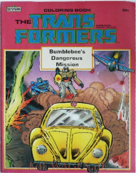 VW - The TRANSFORMERS 'Bumblebee's Dangerous Mission'- Coloring book - [10127]-1