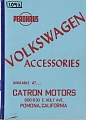 VW - 1957 - Perohaus Volkswagen Accessories - [10522]