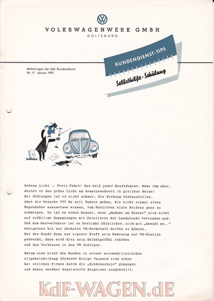 VW - 1957 - Kundendienst-Tips Selbsthilfe-Schulung - 17 - [10551]-1