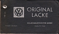 VW - 1960 - Original Lacke - 739 204 - Farbfächer Lackmusterkarten - [10582]